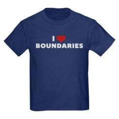 I heart boundaries tee