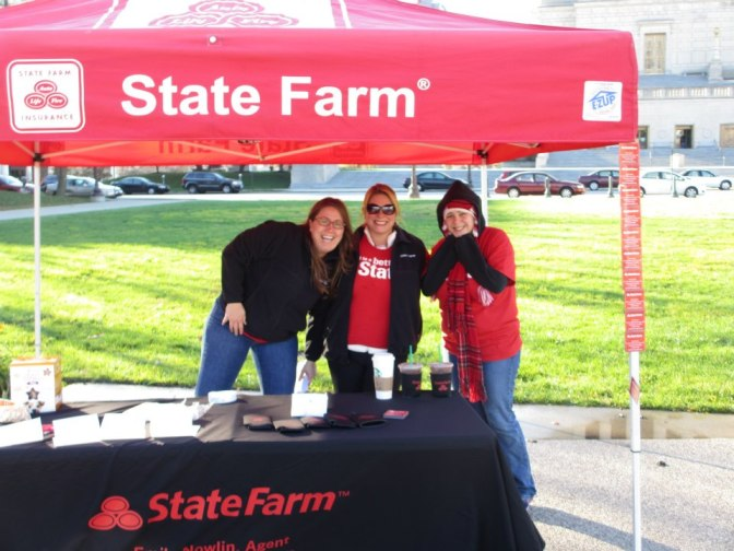 State Farm at an Indy Pit Crew Event