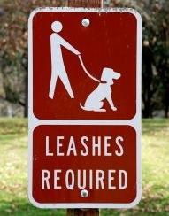 leash sign