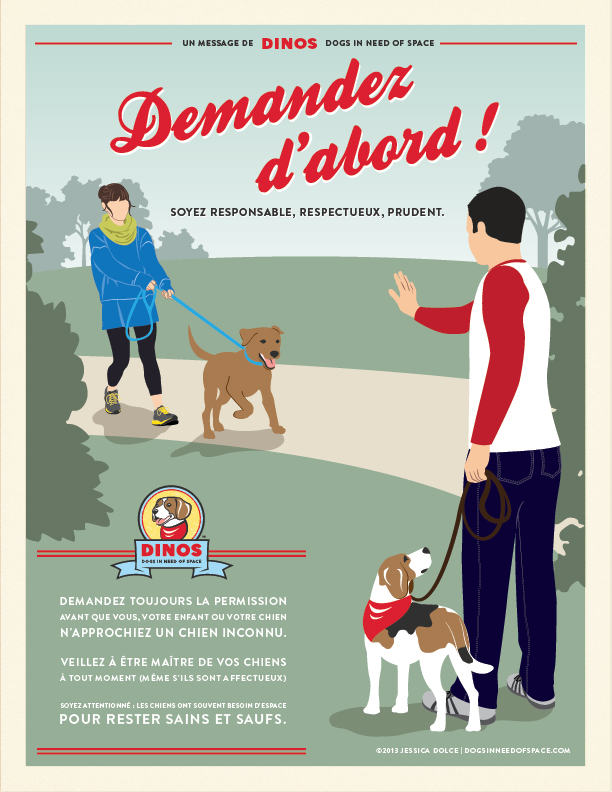 DINOS PSA poster French