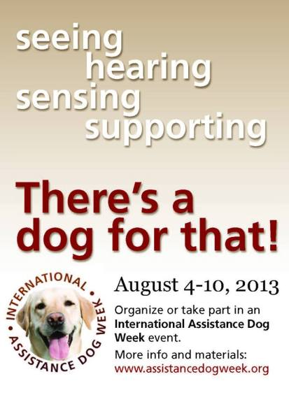 Happy International Assistance Dog  Week